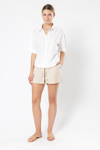 CLEMENT LINEN SHIRT - WHITE