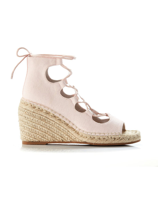 VINE CANVAS WEDGE - PALE PINK