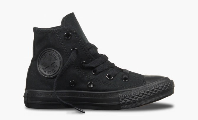 Chuck Taylor All Star Youth Hi Canvas - Black Monoch
