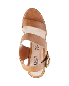 HAVANA LEATHER BLOCK HEEL - TAN