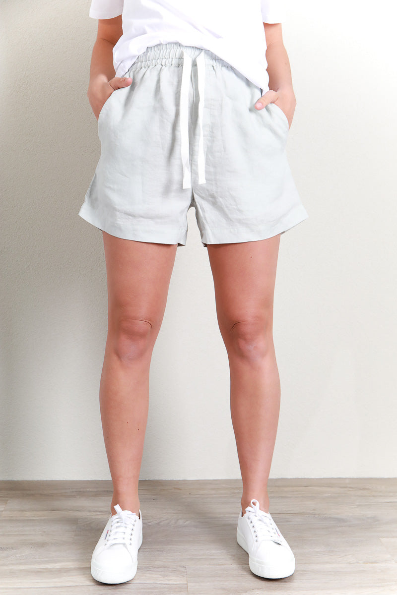 EASE LINEN SHORT - GREEN MIST