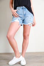 Load image into Gallery viewer, QUINN DENIM SHORT - SKY