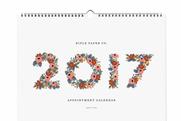 Bonjour 2017!  Rifle Paper Calendars for the New Year