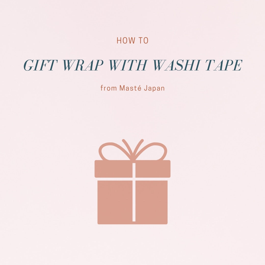 how to gift wrap with washi tape