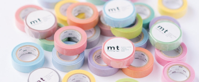 All new MT Masking Tape pastel washi tapes are here.