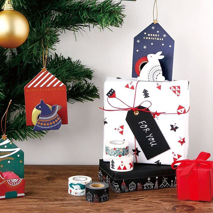maste christmas washi tape gift wrap