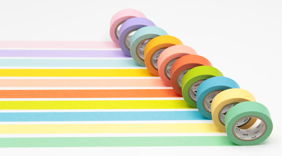 pretty notes - pastel rainbow washi tapes
