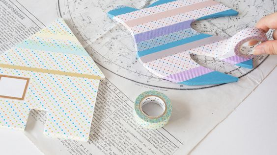 Washi Tape Wall Decoration