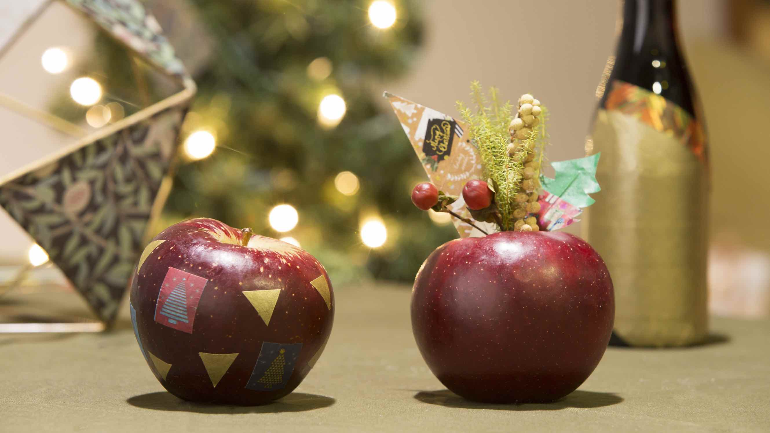 Washi Tape Christmas Apples