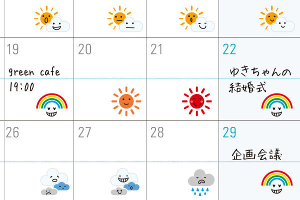 midori mini diary stickers weather