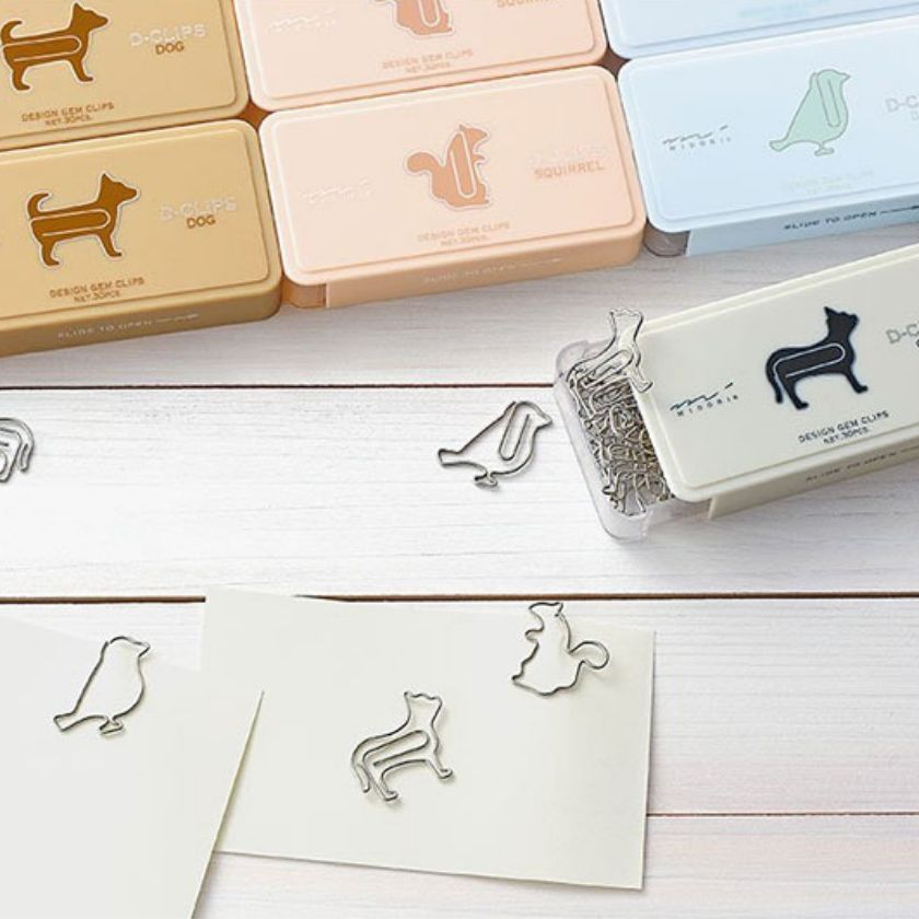 cute animal paper clips