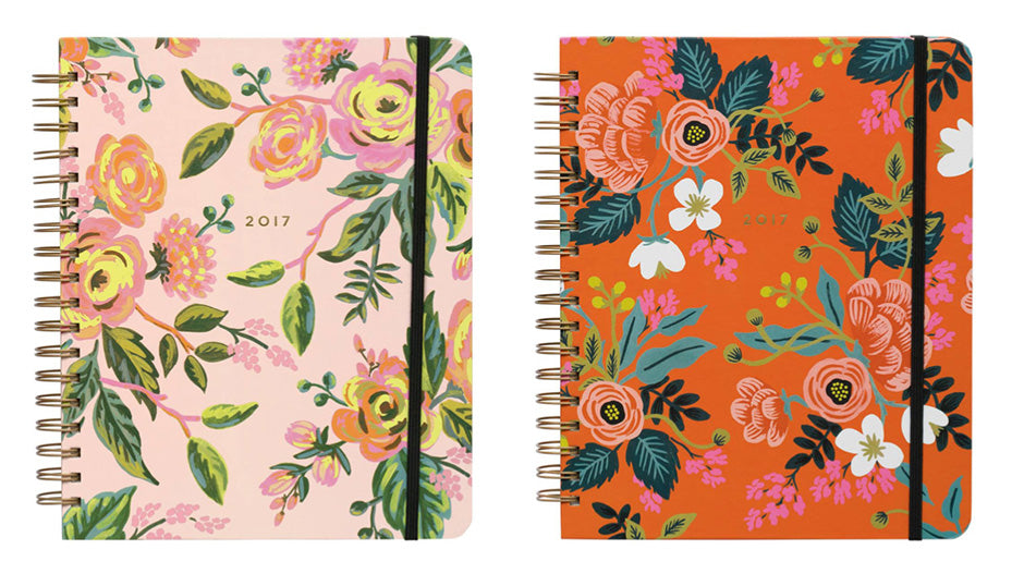rifle paper co 2017 spiral planners