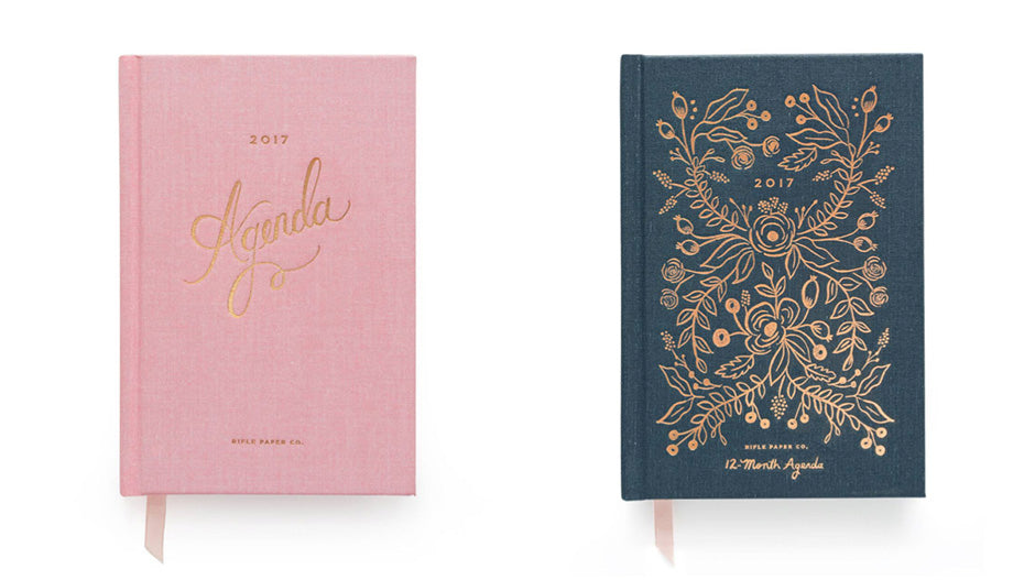 rifle paper co everyday hardcover agendas 2017