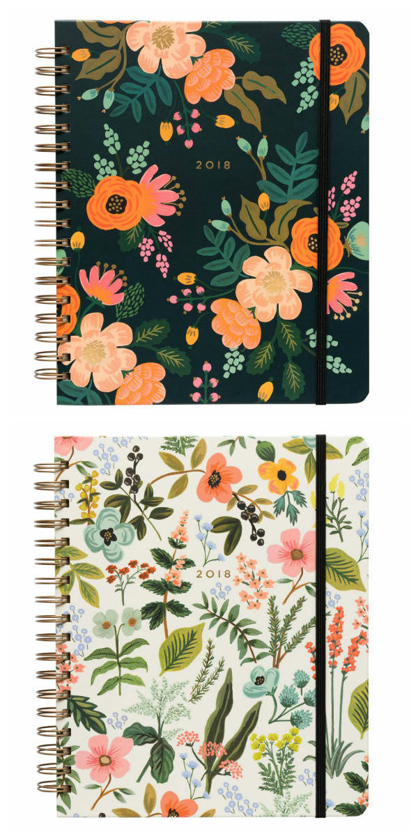 rifle paper co large spiral planners 2018
