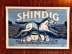2015 Bourbon Review Shindig Poster - Bourbon Outfitters