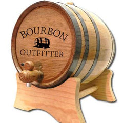 Oak Barrel Cradle Stand - Bourbon Outfitters