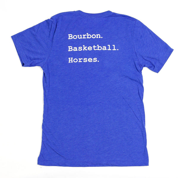 Bourbon. Basketball. Horses. Short sleeve