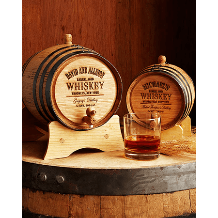 Custom Groomsmen Bourbon Barrels