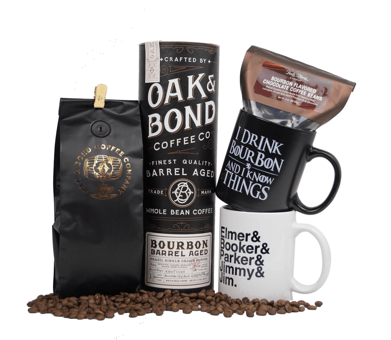 Bourbon and Coffee Lover's Gift Set