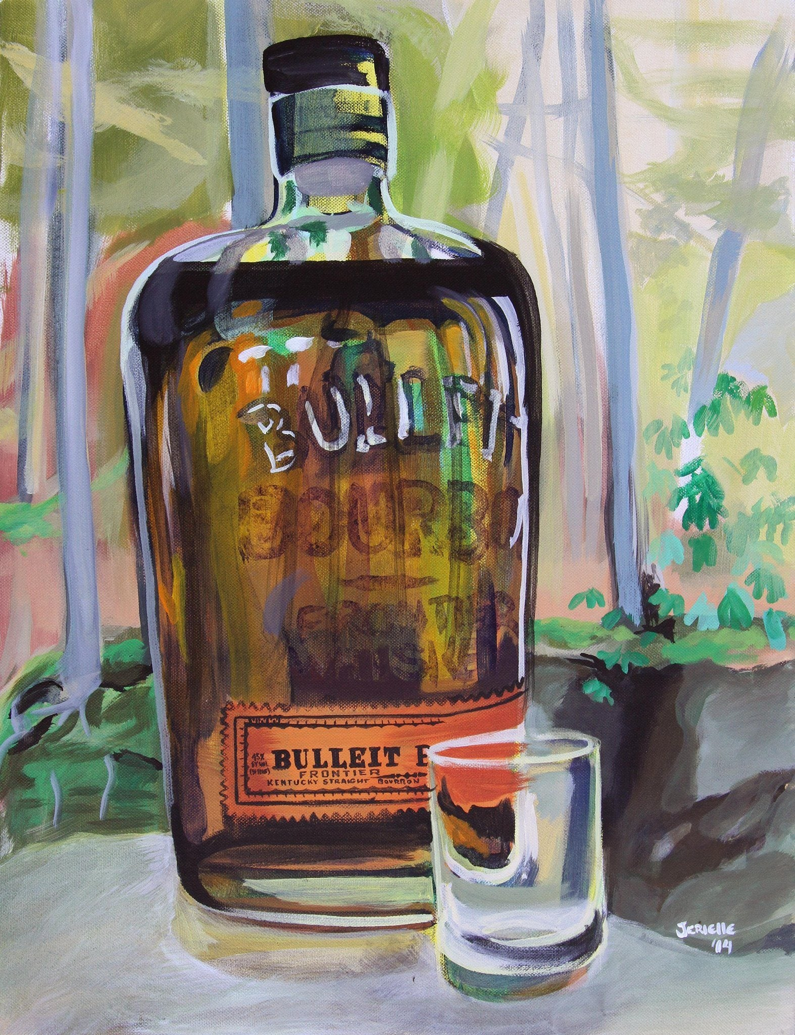 """Red River Bulleit"" Print by Kentucky Pop Art - Bourbon Outfitters"