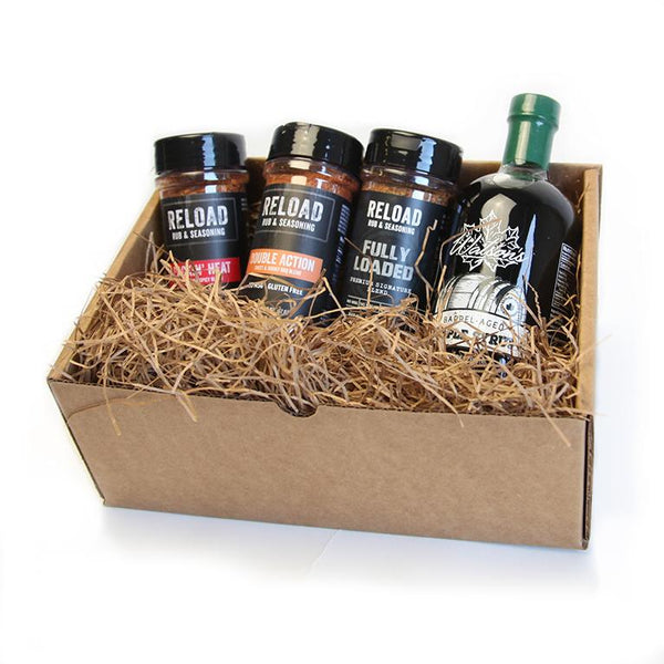 Barrel Aged Maple Syrup - BBQ Seasoning Gift Set - Bourbon Outfitter