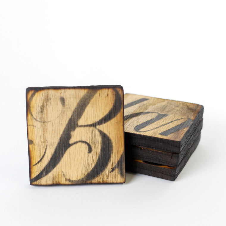 Blanton's Bourbon Oak Coaster Set