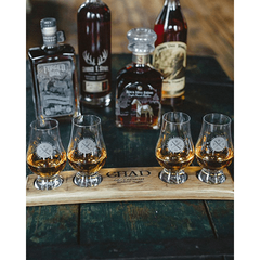 Customized Bourbon Stave with Glencairn Glass Set - LIMITED RUN - Bourbon Outfitters