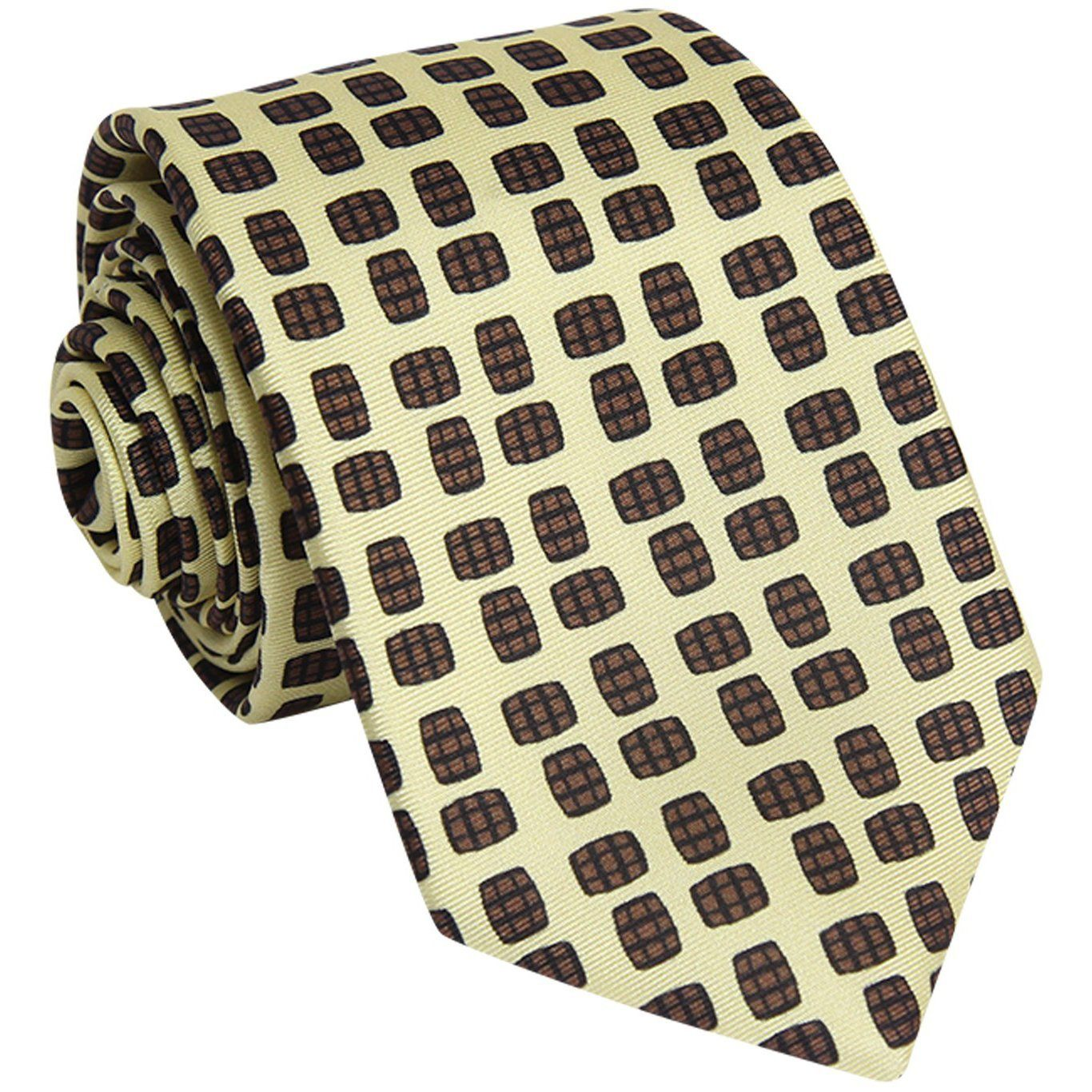 Barrel Aged Necktie, Yellow - Bourbon Outfitter