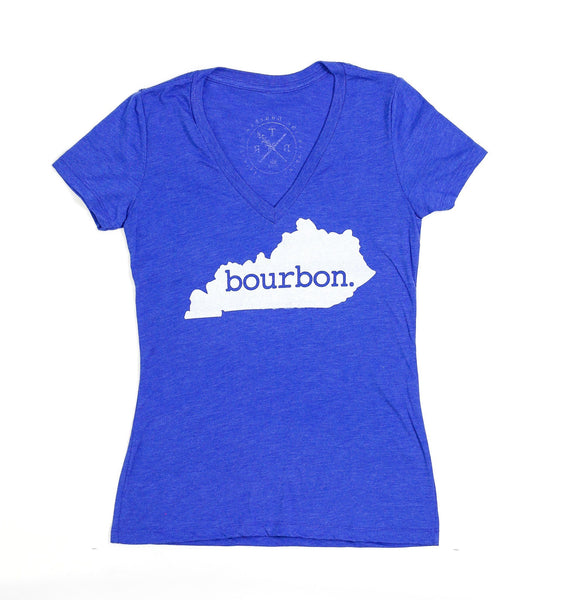 "Ladies V-neck ""Bourbon."""