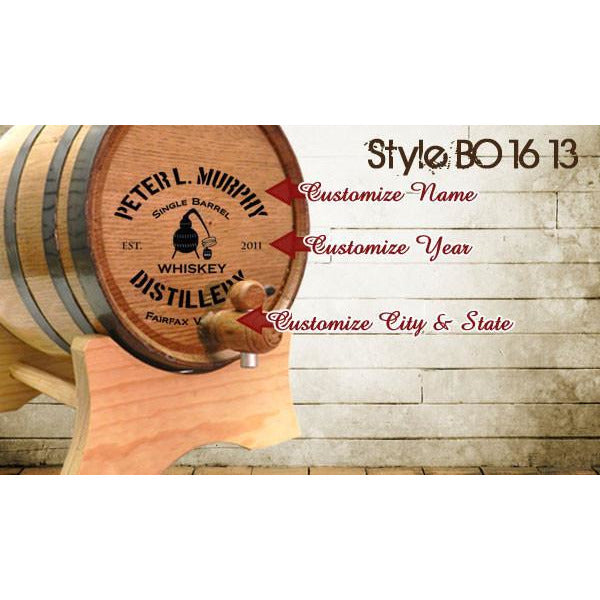 American White Oak Barrel - Customized - Bourbon Outfitters