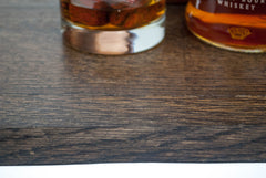 Barrel Serving Tray with Modern Handles - Bourbon Outfitter