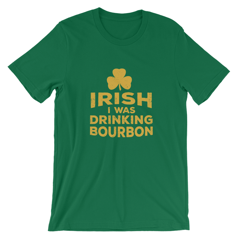 Irish I Was Drinking - Yellow Lettering - Short-Sleeve Unisex T-Shirt