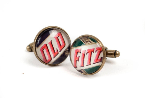 Vintage Label Cufflinks - Bourbon Outfitter