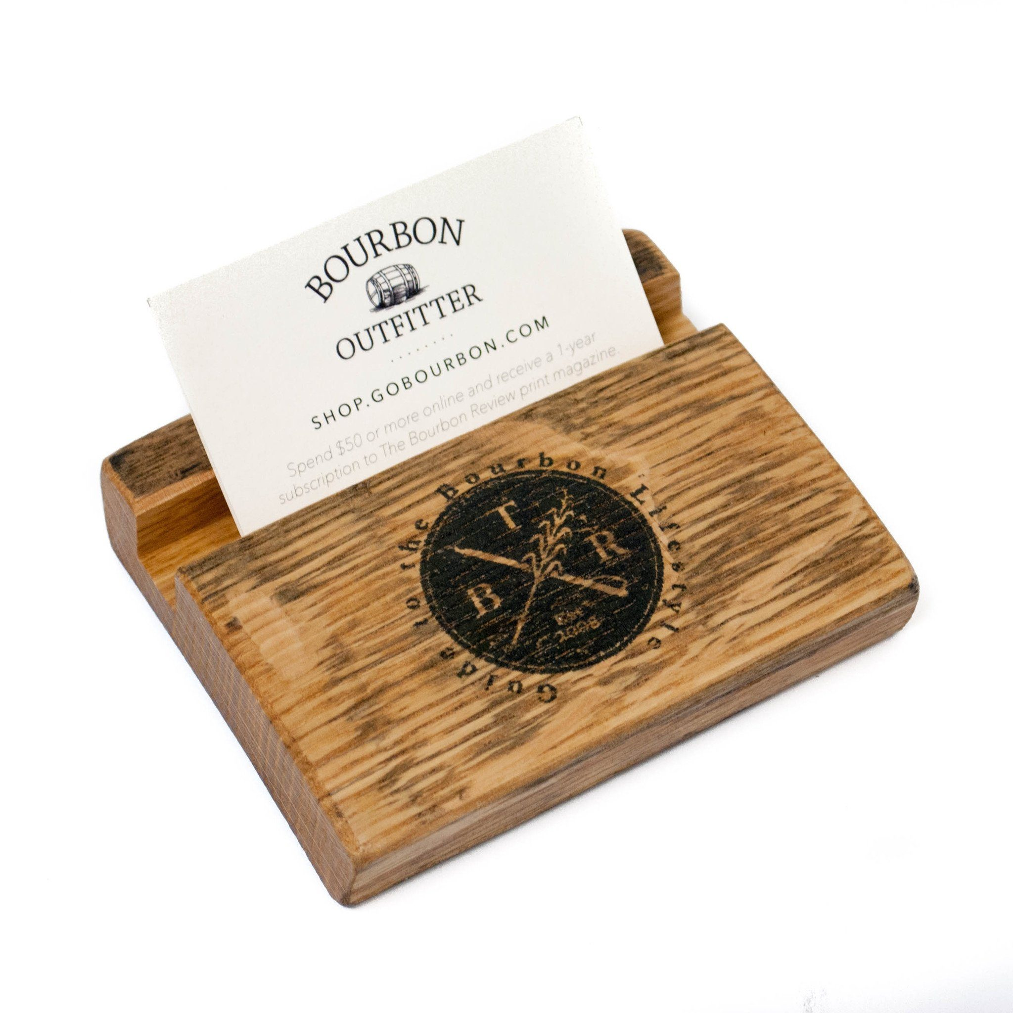 Bourbon Barrel Business Card Holder - Bourbon Outfitter