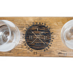 Bourbon Lifestyle Tasting Stave with Glasses - Bourbon Outfitter