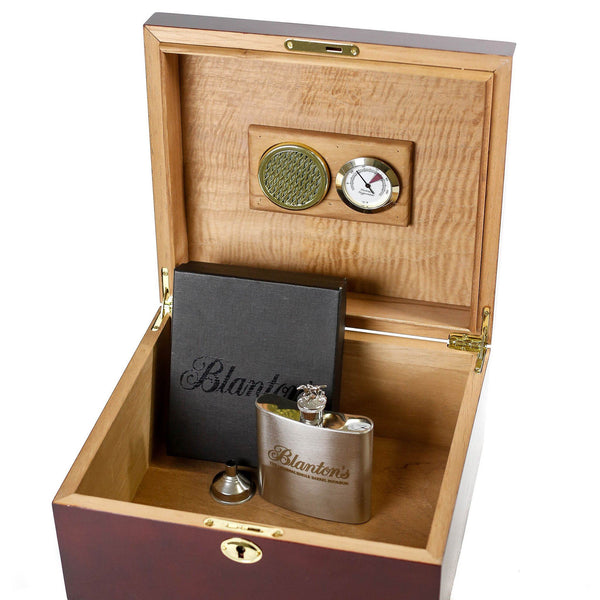 Blanton's Humidor and Flask Gift Set