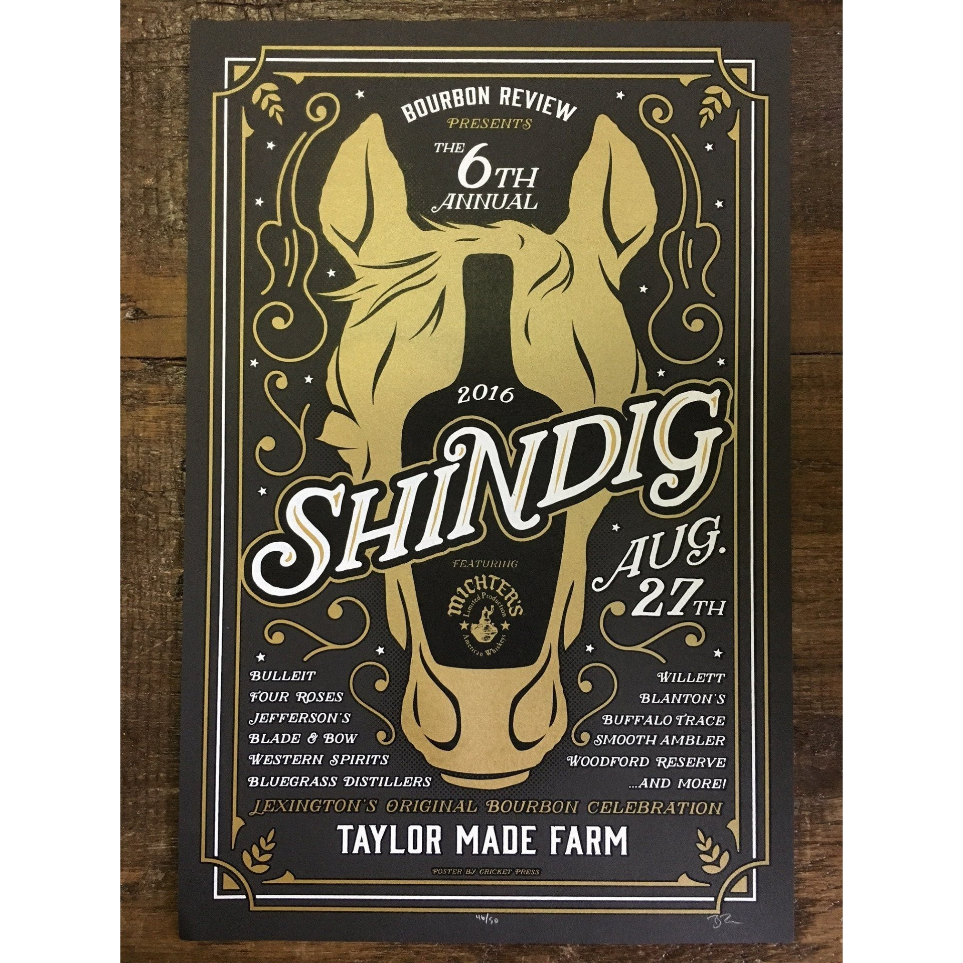 Bourbon Review Shindig Poster 2016 - Bourbon Outfitter