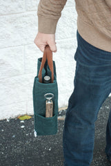 Traveler Series: Waxed Canvas and Leather Tote Bag - Bourbon Outfitter