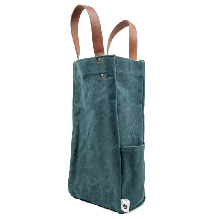 Traveler Series: Waxed Canvas and Leather Tote Bag