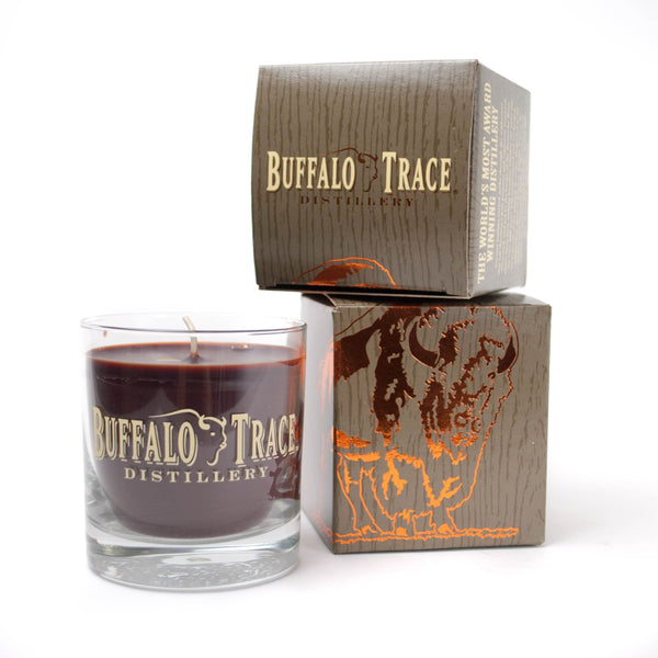 Buffalo Trace Candleberry Rocks Glass Candle - Bourbon Outfitter