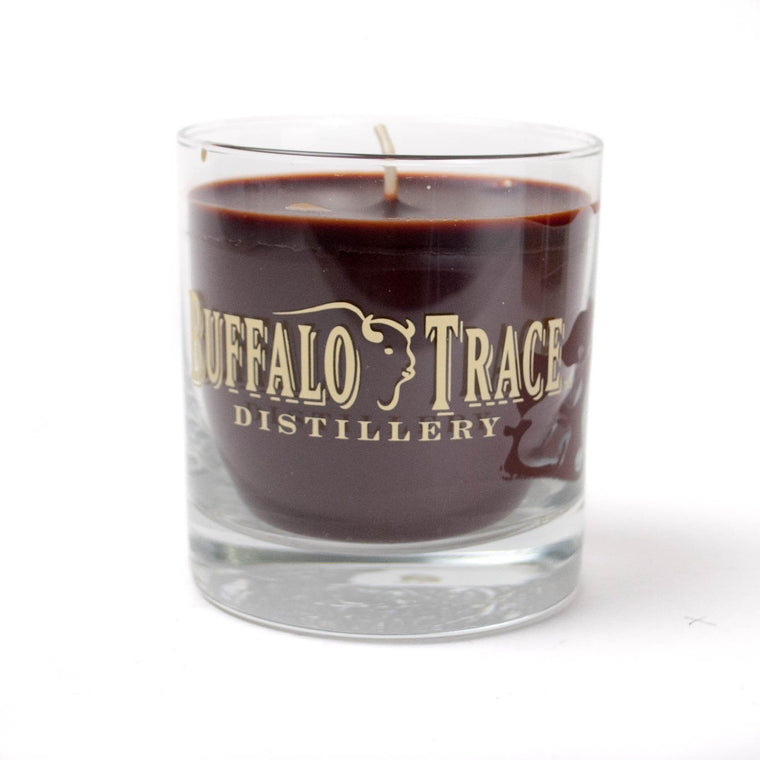 Buffalo Trace Candleberry Rocks Glass Candle