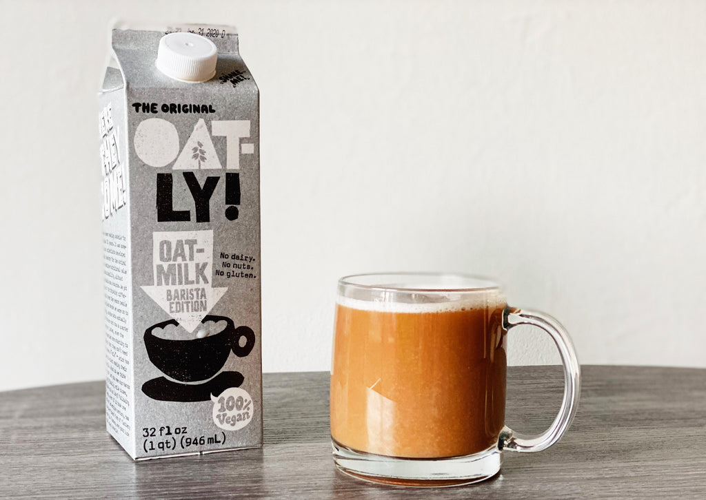 button to buy product Oatly