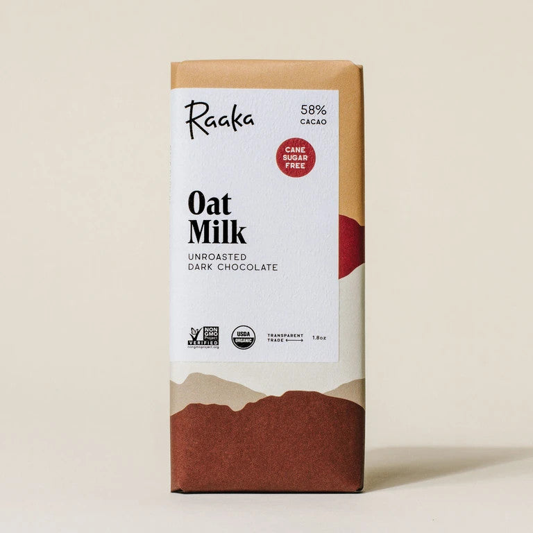 photo of oat milk raaka chocolate
