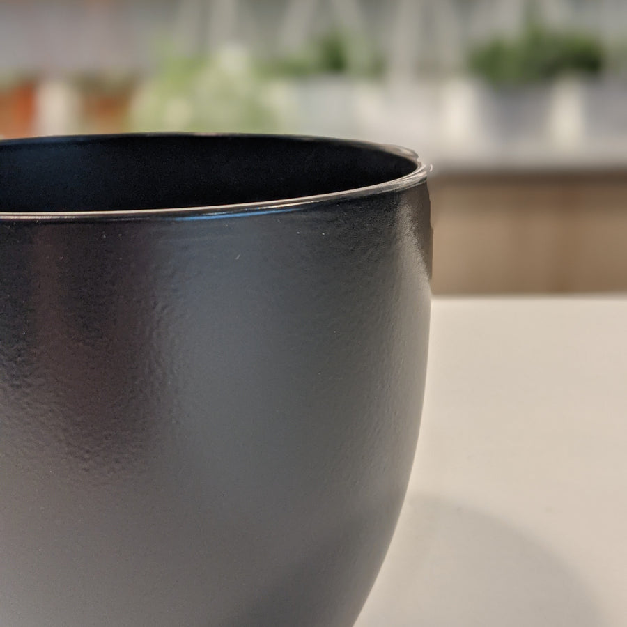 photo of black matte pot