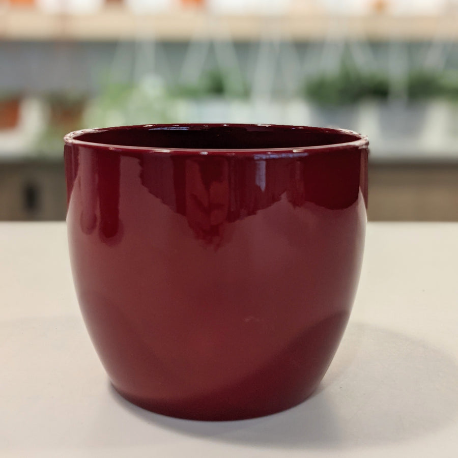 photo of red glazed pot