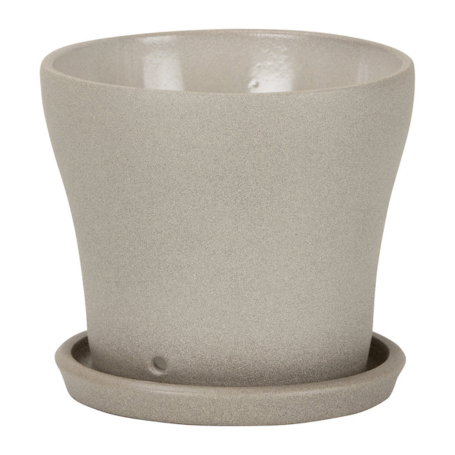 photo of taupe stonepot
