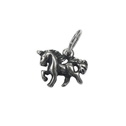 Children's Sterling Silver 'Believe In The Magic' Unicorn Necklace
