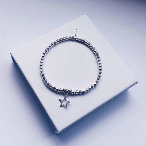 Children's Sterling Silver Star Charm Bracelet