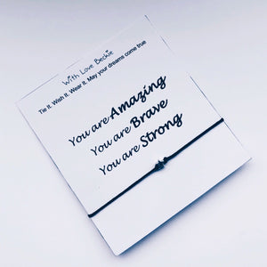 You Are Amazing, You Are Brave You Are Strong Wish String