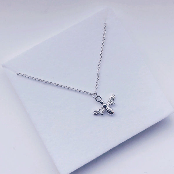 Bee Happy Sterling Silver Necklace